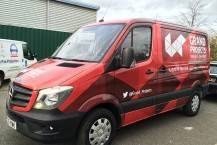 Full Colour Digitally Printed Mercedes Van Wrap