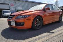 Mazda 6 MPV Full Wrap in Gloss Orange Mettalic