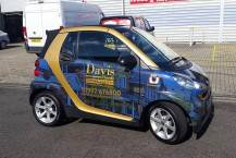 Smart Car Wrapped in Full Colour Digital Print